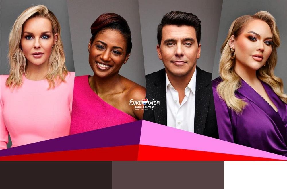 Eurovision presenters.