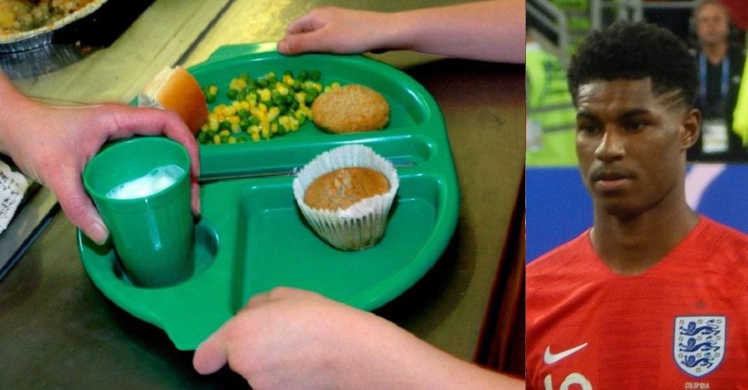 school dinner marcus rashford.